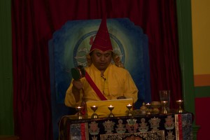Gyaldak Rinpoche Leading an Empowerment in Berkeley California